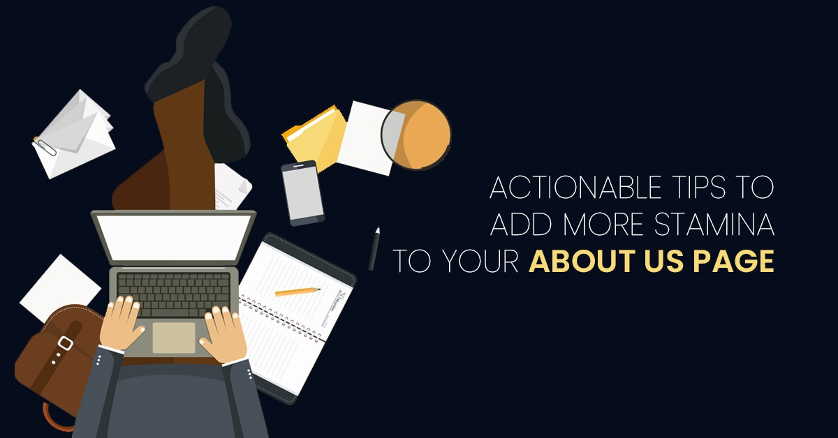 actionable tips to add more stamina to your about us page