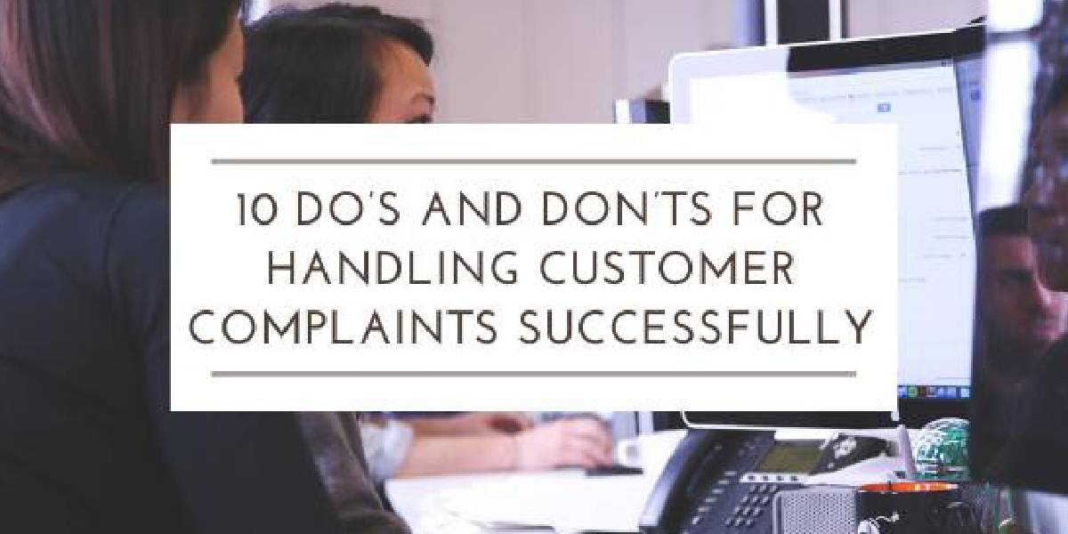 handling customer complaints successfully
