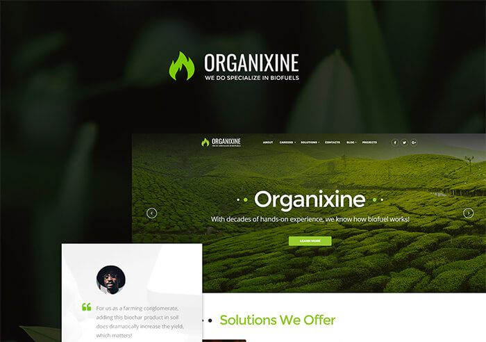 alternative energy company wordpress theme