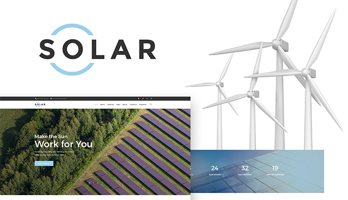 solar - alternative energy company wordpress theme