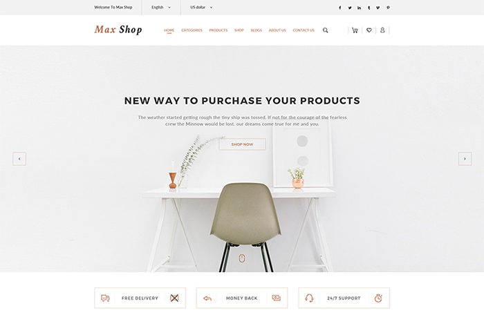max shop - woocommerce theme